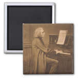 Franz Liszt  at the Piano Magnet