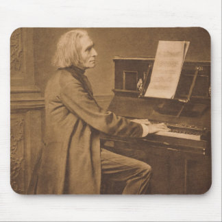 Franz Liszt  at the Piano Mouse Pad