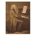 Franz Liszt  at the Piano Postcard