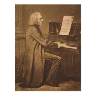 Franz Liszt  at the Piano Postcard