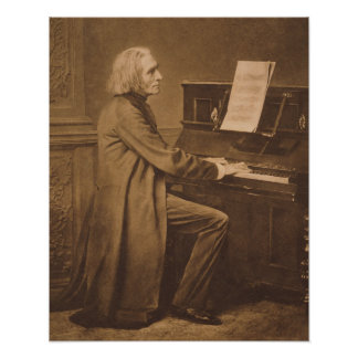 Franz Liszt  at the Piano Poster