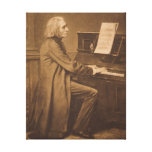Franz Liszt  at the Piano Stretched Canvas Print