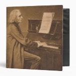 Franz Liszt  at the Piano Vinyl Binder