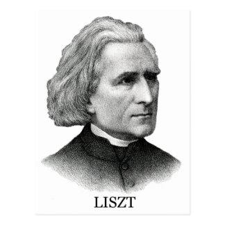 Franz Liszt, black Postcard