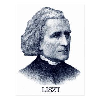 Franz Liszt, blue Postcard
