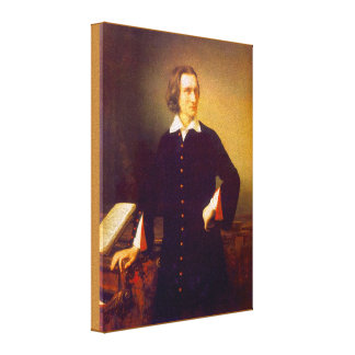 Franz Liszt by M. Barabas Wrapped Canvas Print