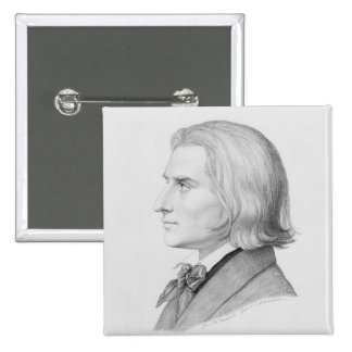 Franz Liszt, engraved by Gonzenbach Button