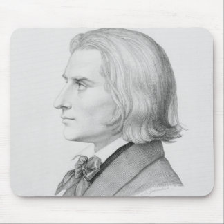 Franz Liszt, engraved by Gonzenbach Mouse Pad