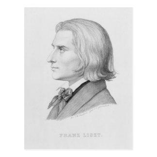 Franz Liszt, engraved by Gonzenbach Postcard