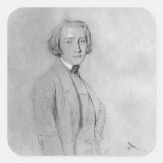 Franz Liszt Roma, el 29 de mayo de 1839 Pegatina Cuadrada