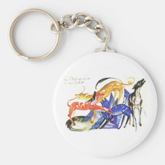 Franz Marc 4 Service Dogs Prince Jusuff 1913 Four Keychain