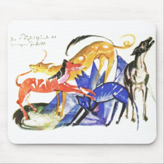 Franz Marc 4 Service Dogs Prince Jusuff 1913 Four Mouse Pad