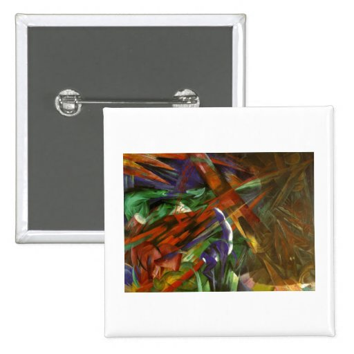 Franz Marc - Animal Fates 1913 Canvas Death After Pinback Button