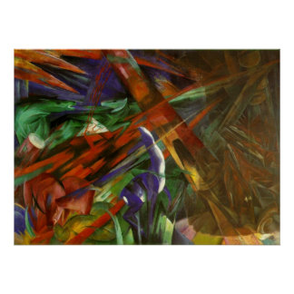 Franz Marc - Animal Fates 1913 Canvas Death After Posters