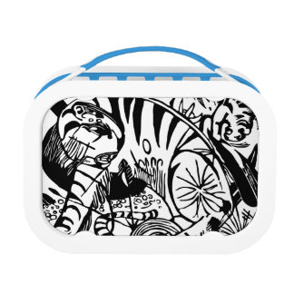 Franz Marc - Black and White Tiger - Abstract Art Lunch Box