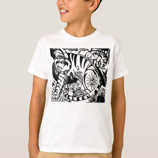 Franz Marc - Black and White Tiger - Abstract Art T-Shirt