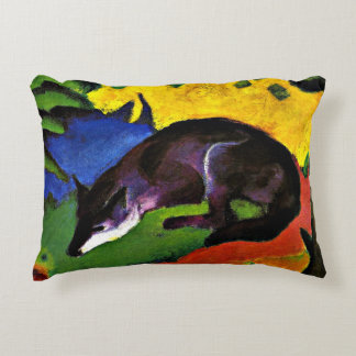 Franz Marc - Blue Fox Accent Pillow