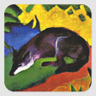 Franz Marc - Blue Fox Square Sticker