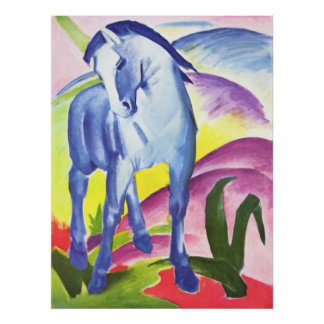 Franz Marc - Blue Horse I 1911 Equine Equestrian Posters