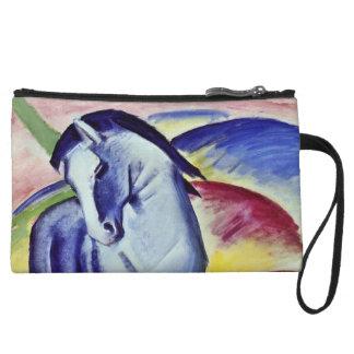 Franz Marc Blue Horse Vintage Fine Art Painting Wristlet Purses