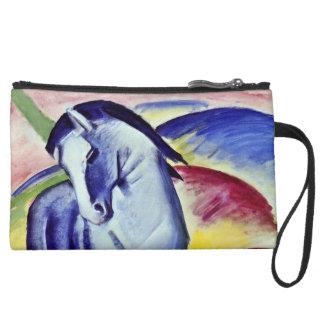 Franz Marc Blue Horse Vintage Fine Art Painting Wristlet Clutch