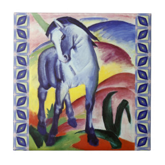 Franz Marc Blue Horse Vintage Fine Art Painting Ceramic Tile