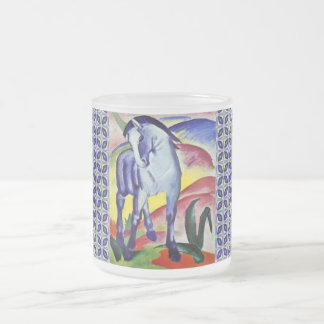 Franz Marc Blue Horse Vintage Fine Art Painting Frosted Glass Coffee Mug