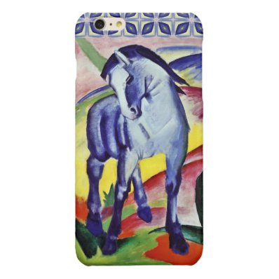 Franz Marc Blue Horse Vintage Fine Art Painting Glossy iPhone 6 Plus Case