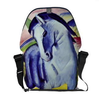 Franz Marc Blue Horse Vintage Fine Art Painting Messenger Bags