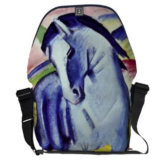 Franz Marc Blue Horse Vintage Fine Art Painting Messenger Bag