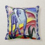 Franz Marc Blue Horse Vintage Fine Art Painting Pillow