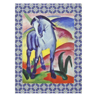 Franz Marc Blue Horse Vintage Fine Art Painting Tablecloth