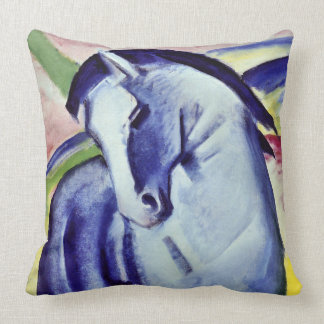 Franz Marc Blue Horse Vintage Fine Art Painting Throw Pillow