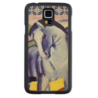 Franz Marc Blue Horse Vintage Fine Art Painting Carved® Maple Galaxy S5 Slim Case