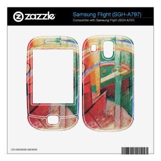 Franz Marc - Blue horse with rainbow Skin For Samsung Flight