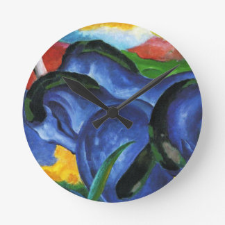 Franz Marc Blue Horses Clock