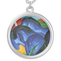 Franz Marc Blue Horses Necklace