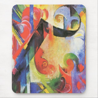 Franz Marc - Broken Forms Mouse Pad
