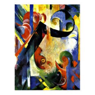 Franz Marc - Broken Forms Postcard