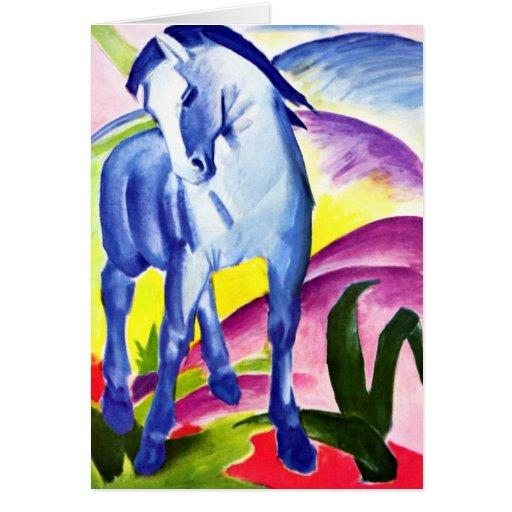 Franz Marc - caballo azul I Tarjeta De Felicitación