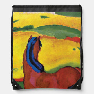 Franz Marc - caballo en un paisaje Mochilas