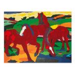 Franz Marc - caballos rojos