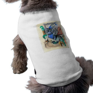 Franz Marc - casa en paisaje abstracto Camisa De Perro