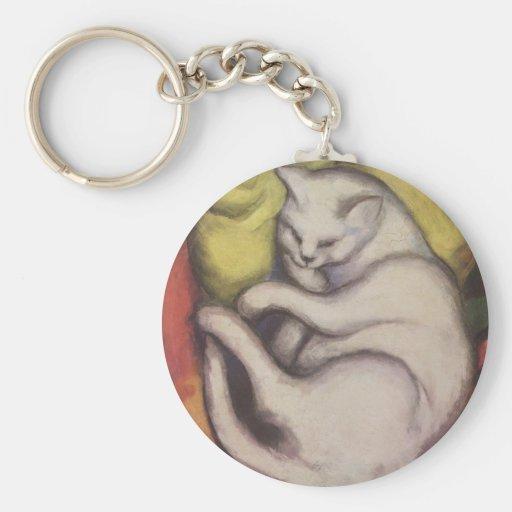 Franz_Marc_Cat Key Chain