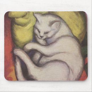 Franz Marc - Cat on a Yellow Cushion Mouse Pad