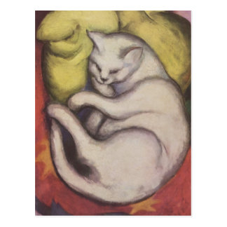 Franz Marc - Cat on a Yellow Cushion Postcard