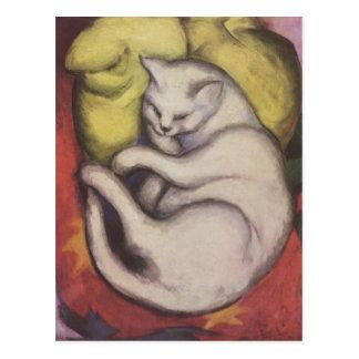 Franz_Marc_Cat Postcard