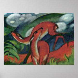 Franz Marc - ciervo común II Posters