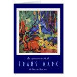 Franz Marc - ciervo de huevas en el expresionista  Tarjeta