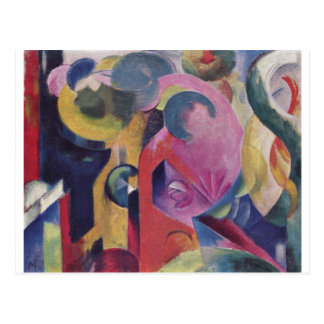 Franz Marc - Composition III 1914 Canvas Abstract Post Card
